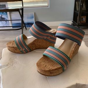 JustFab Multicolor Cork Wedges